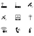 wireless icon set vector image