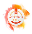 big autumn sale best choice circle banner vector image