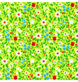 seamless pattern bright spring flowers vector image