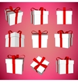Abstract Creative concept icon set of gift vector image