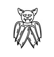 bat icon doodle hand drawn or black outline icon vector image