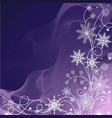 beautiful winter pattern made of snowflakes on vector image vector image