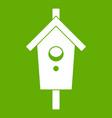 birdhouse icon green vector image vector image