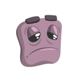 Bored Grey Emoji Cartoon Square Funny Emotional vector image vector image