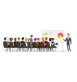 business lecture managers sitting in conference vector image vector image