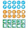 buttons with symbols vector image