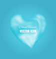 cloud heart icon vector image