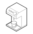 Coffee machine icon outline style vector image vector image