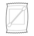 cotton bud icon outline vector image