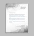 creative flowing ink letterhead design vector image vector image
