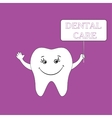 Dental care design concept Human tooth smile vector image vector image
