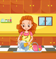 Doing dishes vector image vector image