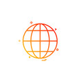 earth globe multimedia icon design vector image