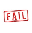 fail sign or stamp vector image vector image
