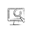 figure computer technology information with vector image vector image