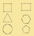 Geometric Frames vector image