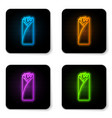 glowing neon burrito icon isolated on white vector image vector image