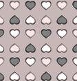Gray heart Pattern vector image vector image