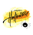 happy halloween lettering holiday calligraphy vector image