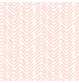 herringbone soft pink hand drawn simple seamless vector image vector image