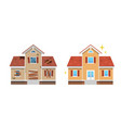 home renovation before and after facade new vector image