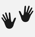 human hand-print vector image vector image