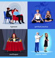 hypnotism extrasensory icon set vector image