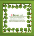 isolated green trees vector image