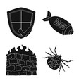 isolated object of virus and secure icon vector image