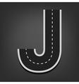 J letter Road font vector image vector image