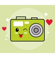 Kawaii icon Camera Cartoon design graphic vector image vector image