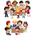kids learning at school vector image vector image