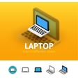 Laptop icon in different style vector image vector image