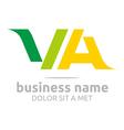 letter v a alphabet element icon vector image vector image