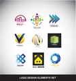 Logo design elements set icon vector image vector image