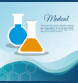 medical laboratory test tube vector image