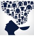 Men s fashion background vector image vector image