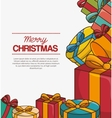 merry christmas isolated vector image vector image