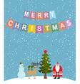 Merry Christmas Snowfall Christmas characters vector image vector image