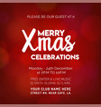 merry xmas celebration background vector image