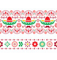 mexican seamless pattern with sombrero vector image vector image