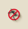mosquito silhouette pest icon stop sign vector image vector image