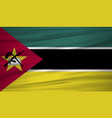 mozambique flag flag of mozambique blowig in the vector image