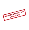 Newfoundland And Labrador Rubber Stamp vector image