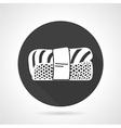 Nigiri sushi black icon vector image