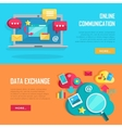 Online Communication and Data Exchange Banners vector image vector image