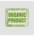 organic product isolated transparent background vector image vector image