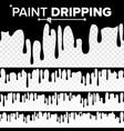paint dripping liquid abstract current vector image vector image