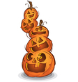 Pile Of Halloween Pumpkin Cartoon Characters vector image