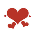 red hearts love romantic vector image vector image